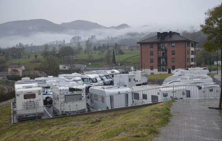 Nueva área para autocaravanas en Noreña, Asturias